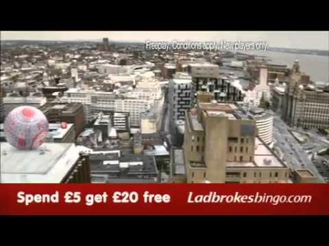 Ladbrokes Bingo! Spend £5 & Get £20 FREE! New TV advert 2010
