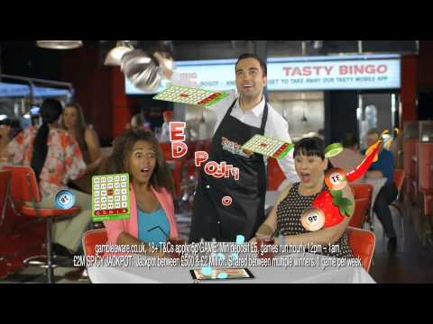Tasty Bingo - Deposit £10 Play With £40! [2014 TV ad]