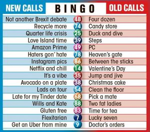 21st Century Bingo Calls