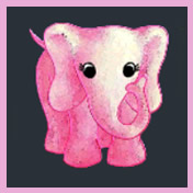 Fluffy Favourites Pink Elephant